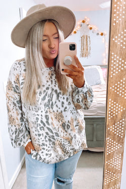 S / Ivory On the Scene Animal Mix Print Top - FINAL SALE - Madison and Mallory