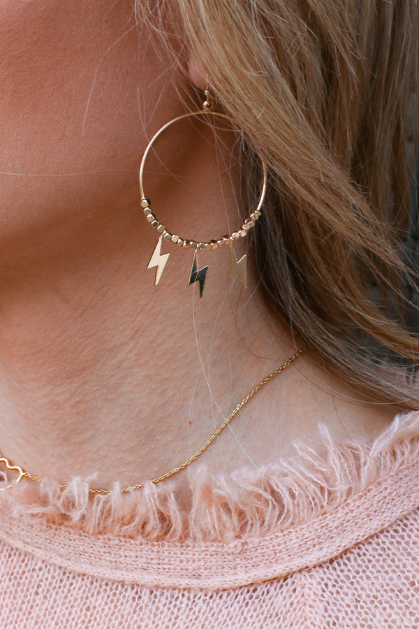Gold Fade Into You Lightning Bolt Earrings + MORE COLORS - Madison + Mallory
