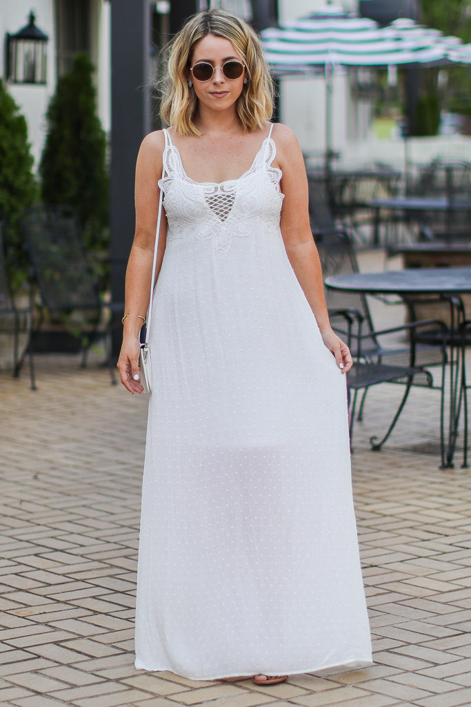 Corina Boho Lace Maxi Dress - FINAL SALE - Madison + Mallory