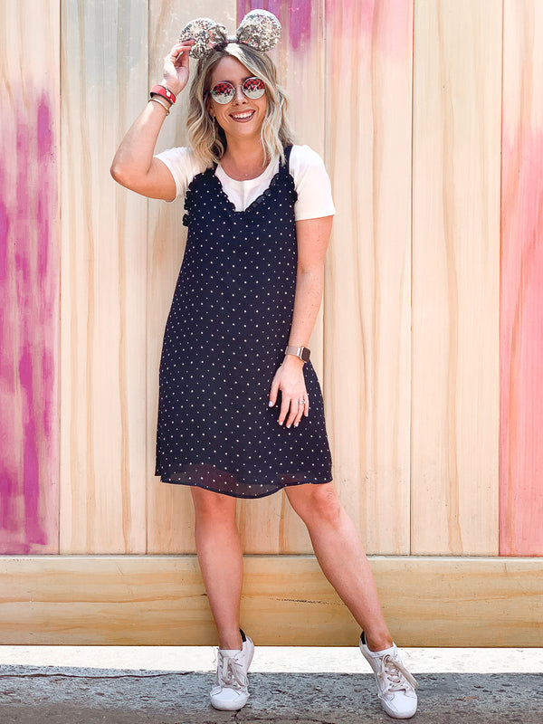 S / Black She's a Star Chiffon Dress - FINAL SALE - Madison + Mallory