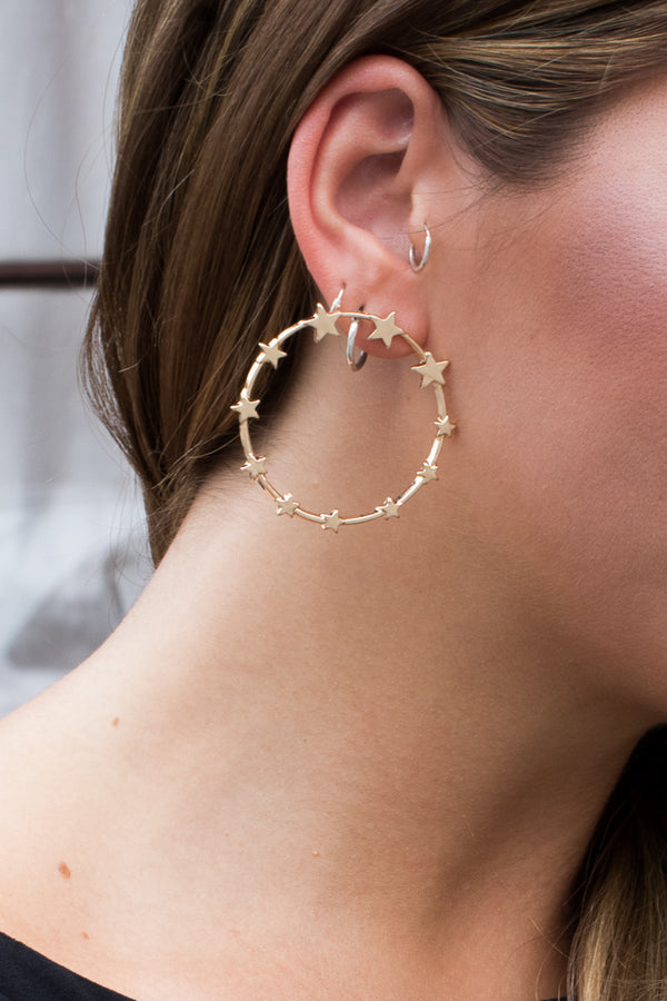 Circle the Stars Earrings - Madison + Mallory