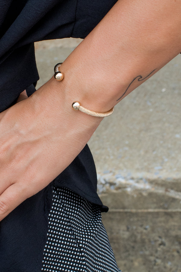 OS / Gold Ritzy Business Bracelet - Madison + Mallory