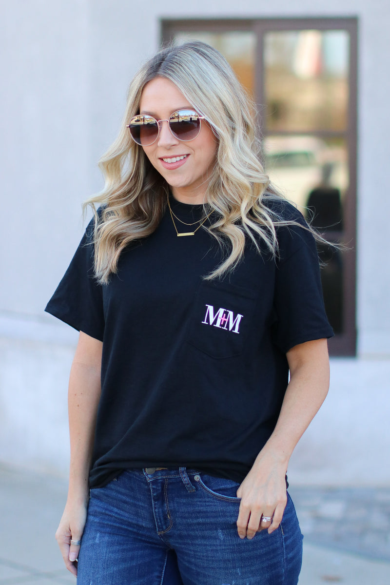 Black / S M+M Logo Pocket Top - Black - Madison and Mallory