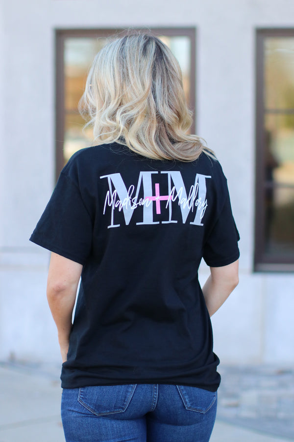 M+M Logo Pocket Top - Black - Madison + Mallory