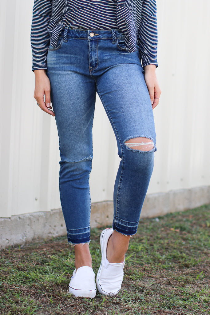27 / Medium Wash Danielle Skinny Jeans - FINAL SALE - Madison + Mallory
