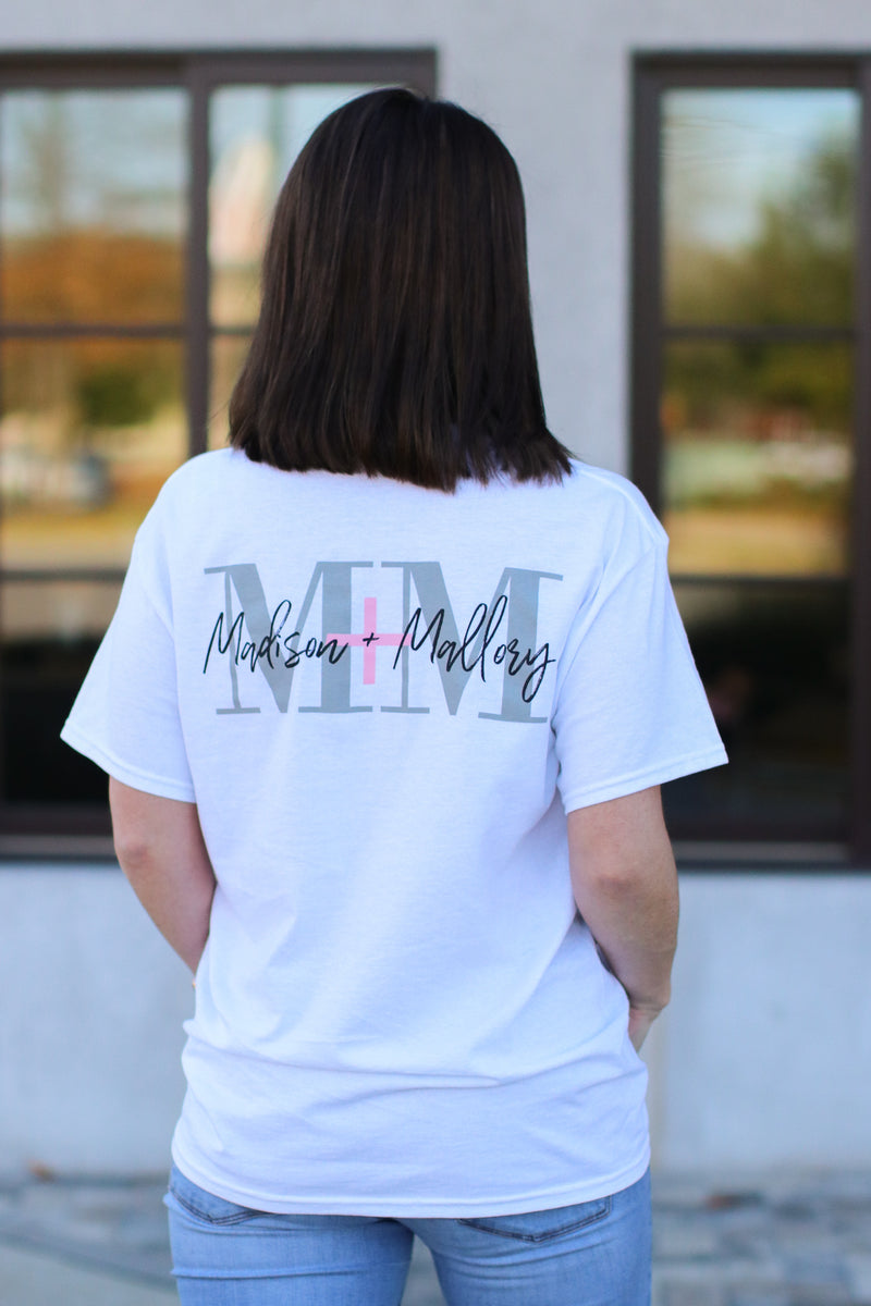 M+M Logo Pocket Top - White - Madison and Mallory