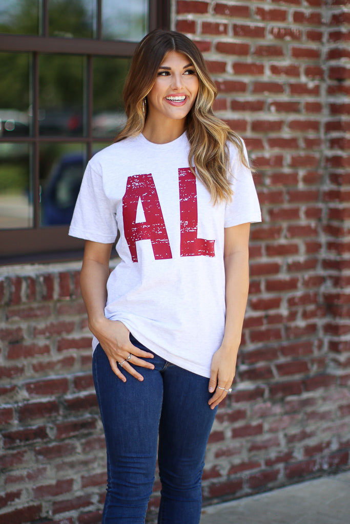 S / Ash AL State Tee | CURVE - FINAL SALE - Madison and Mallory