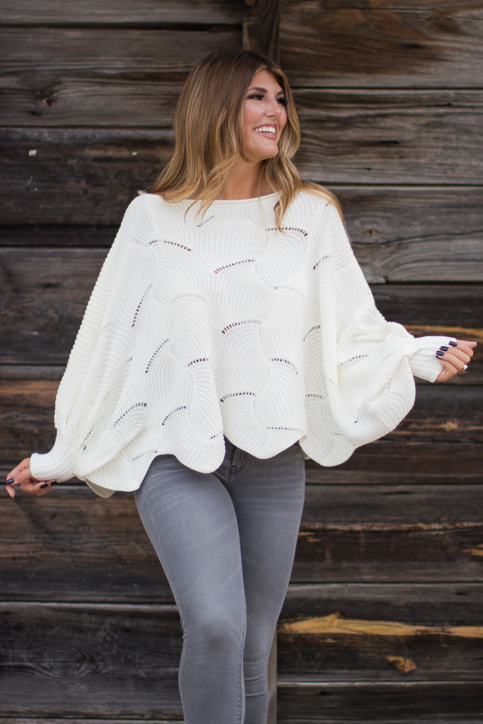 SM / Cream Jana Dolman Sweater - Madison + Mallory