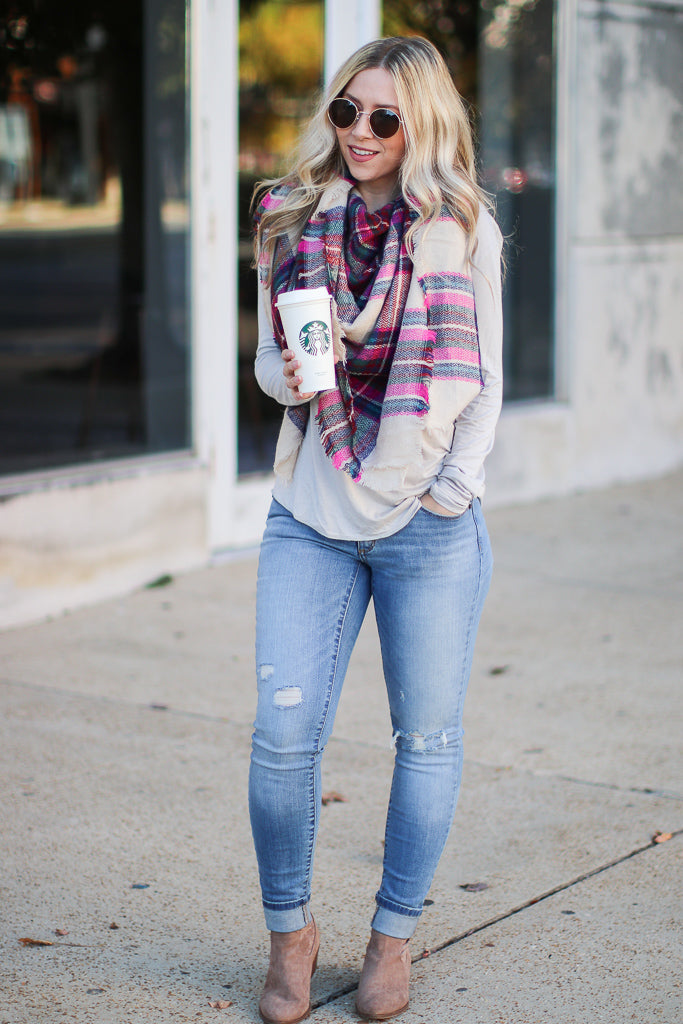 Fab First Plaid Scarf - Madison + Mallory