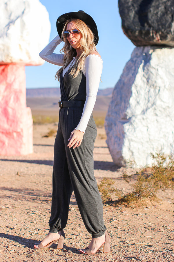 Bryant Surplice Jumpsuit - Madison + Mallory