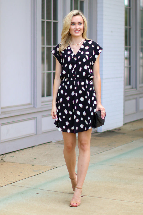 Call It What You Want Printed Dress - FINAL SALE - Madison + Mallory