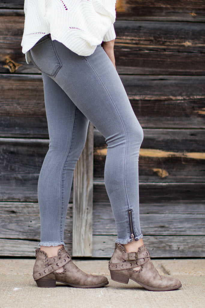 Grayson Skinny Zip Jeans - FINAL SALE - Madison + Mallory