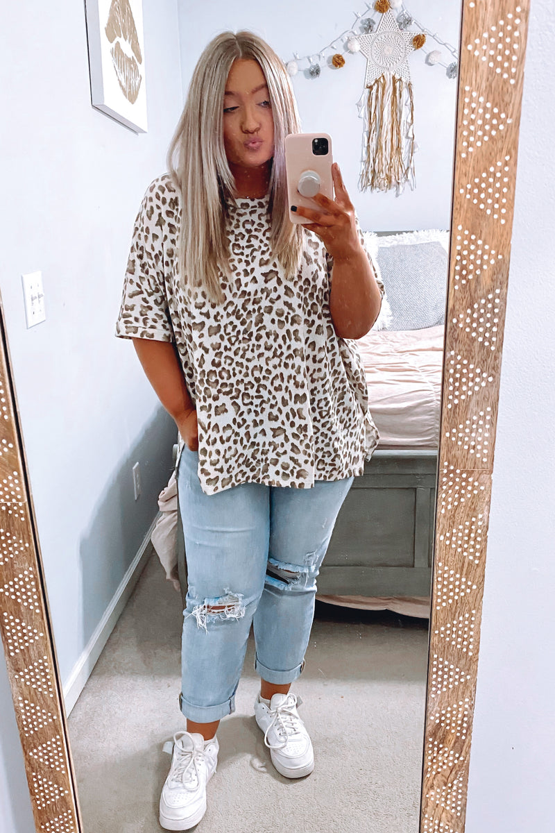 Secluded Animal Print Top - Madison and Mallory