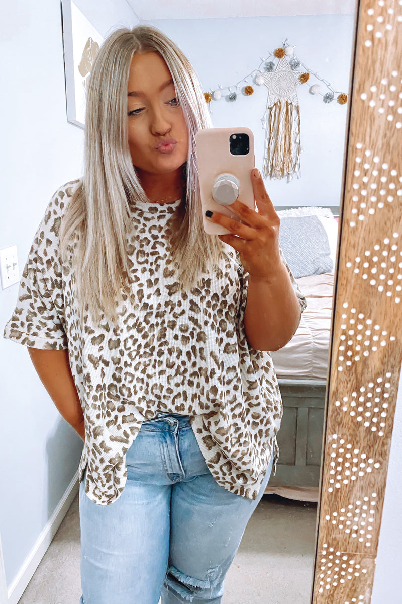 S / Animal Secluded Animal Print Top - Madison and Mallory