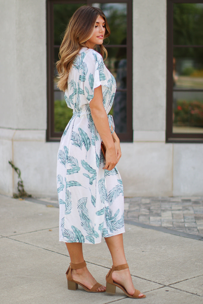 Surprise Getaway Tropical Print Dress - Madison + Mallory