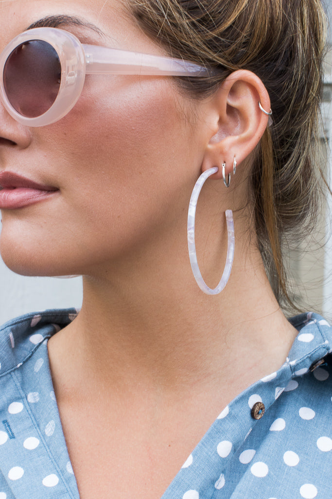 OS / Rose Lovesick Acrylic Earrings - Madison + Mallory