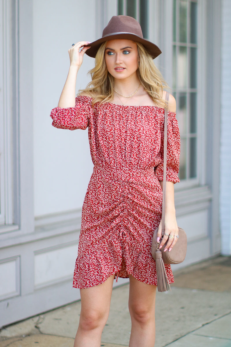Show You the Way Off Shoulder Floral Dress - FINAL SALE - Madison and Mallory