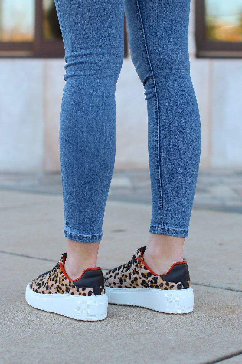 Jonas Leopard Print Platform Sneakers - Madison and Mallory