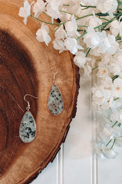 Sage Xenia Stone Teardrop Earrings - Madison and Mallory