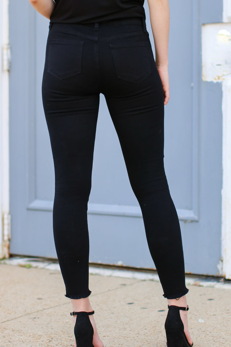 Berea Knee Slit Skinny Jeans - Madison and Mallory