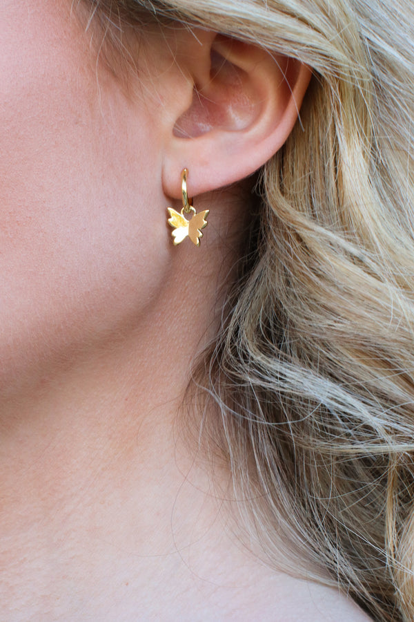 Gold Flight of Fancy Gold Dipped Butterfly Earrings - Madison and Mallory
