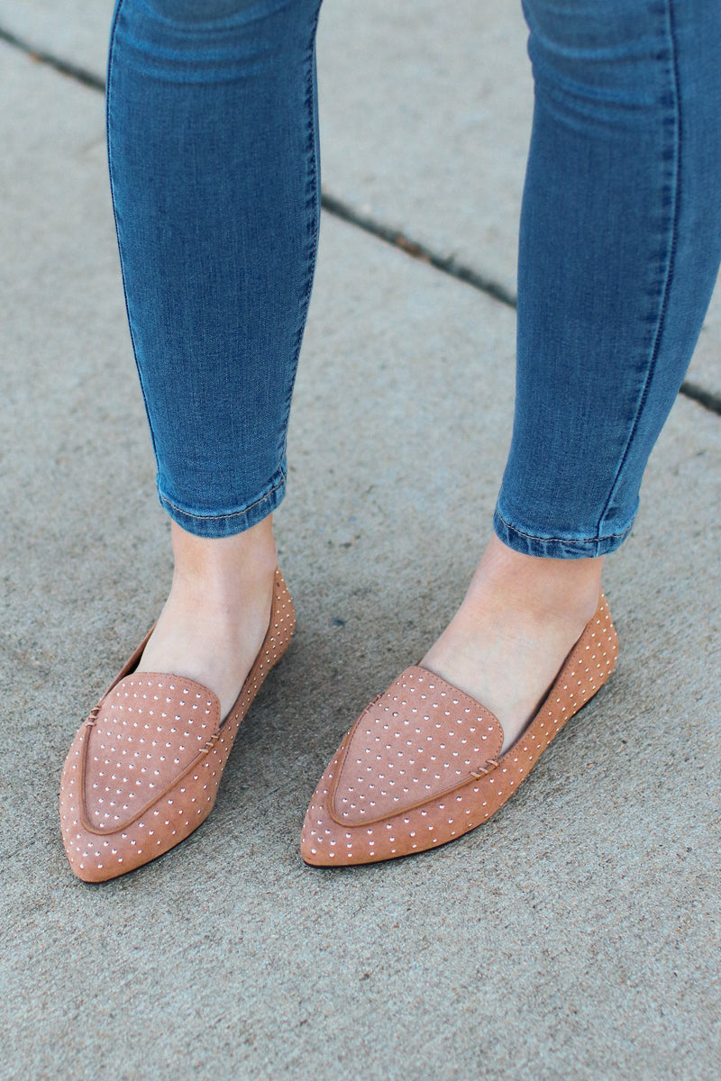 Fab Motivation Studded Loafers - Madison + Mallory