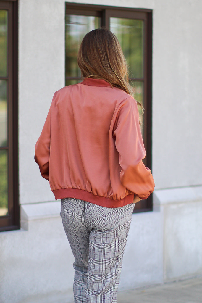 Signature Look Satin Bomber - FINAL SALE - Madison + Mallory