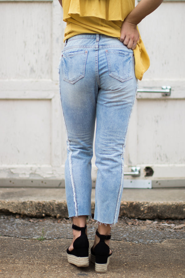 Logan Distressed Jeans - FINAL SALE - Madison + Mallory