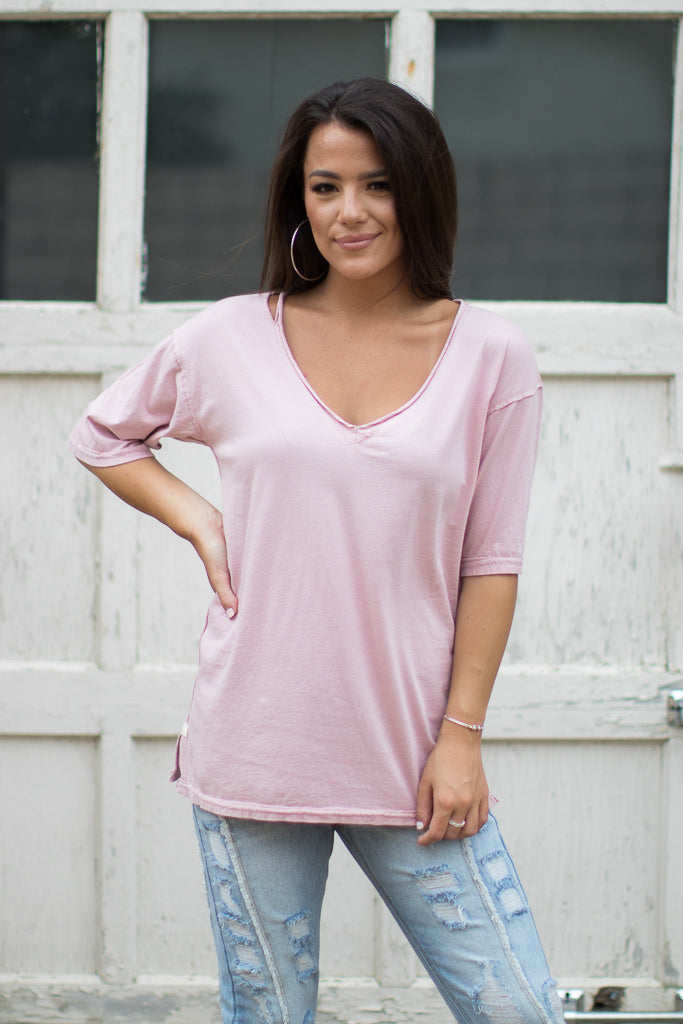 Knit Drop Shoulder Top - Madison + Mallory