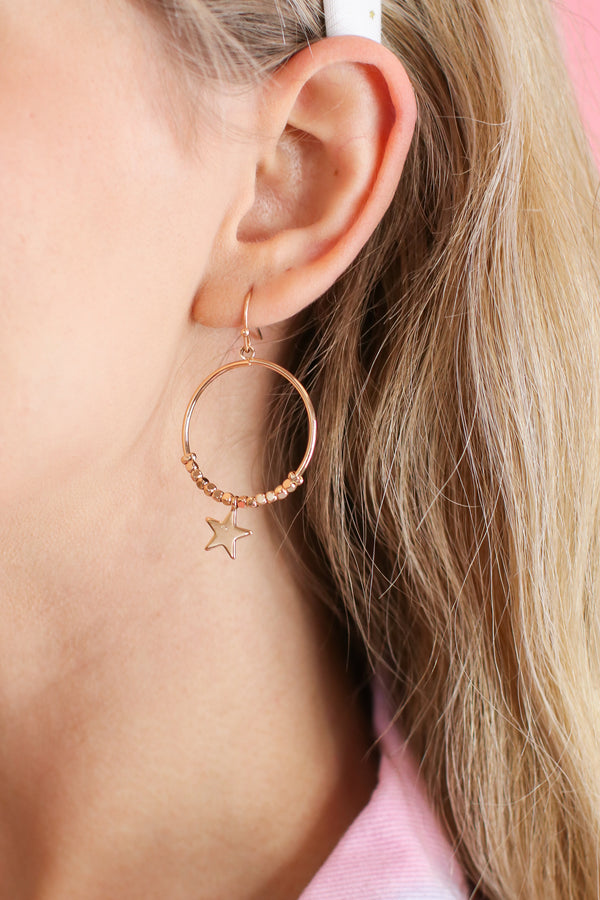 Gold From Within Star Hoop Earrings - Madison and Mallory
