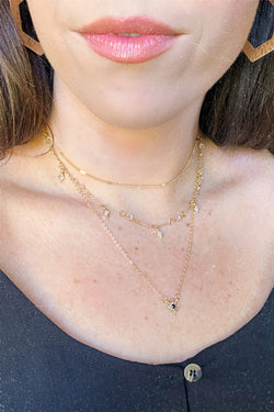Gold Makes Me Wonder Crystal Star Layered Necklace - Madison and Mallory
