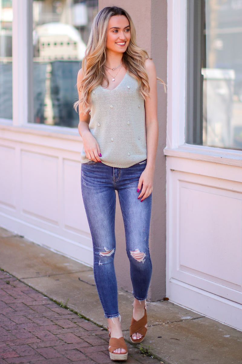 Farren High Rise Distressed Ankle Skinny Jeans - Madison and Mallory