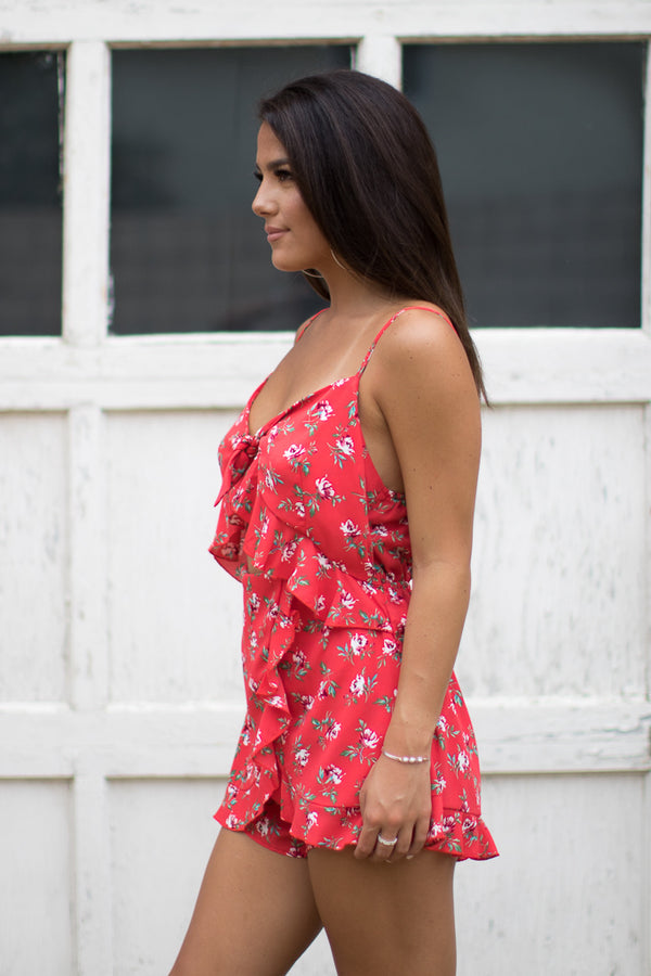 Floral Pop Romper - Madison + Mallory
