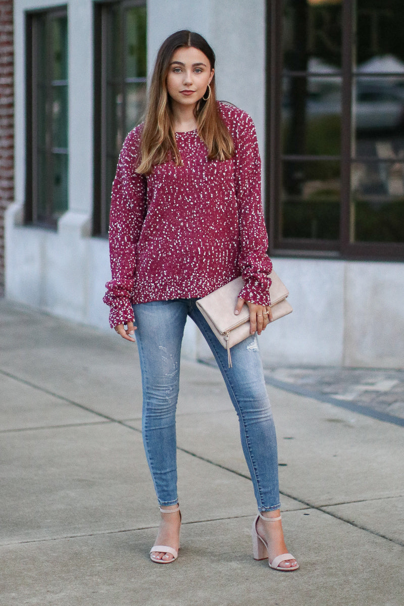 Five More Minutes Knit Sweater - Madison + Mallory