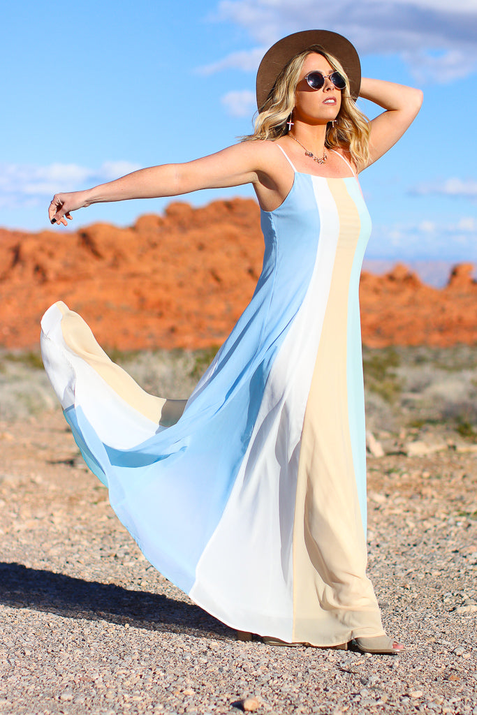 Rainbow Road Pastel Maxi Dress - Madison + Mallory