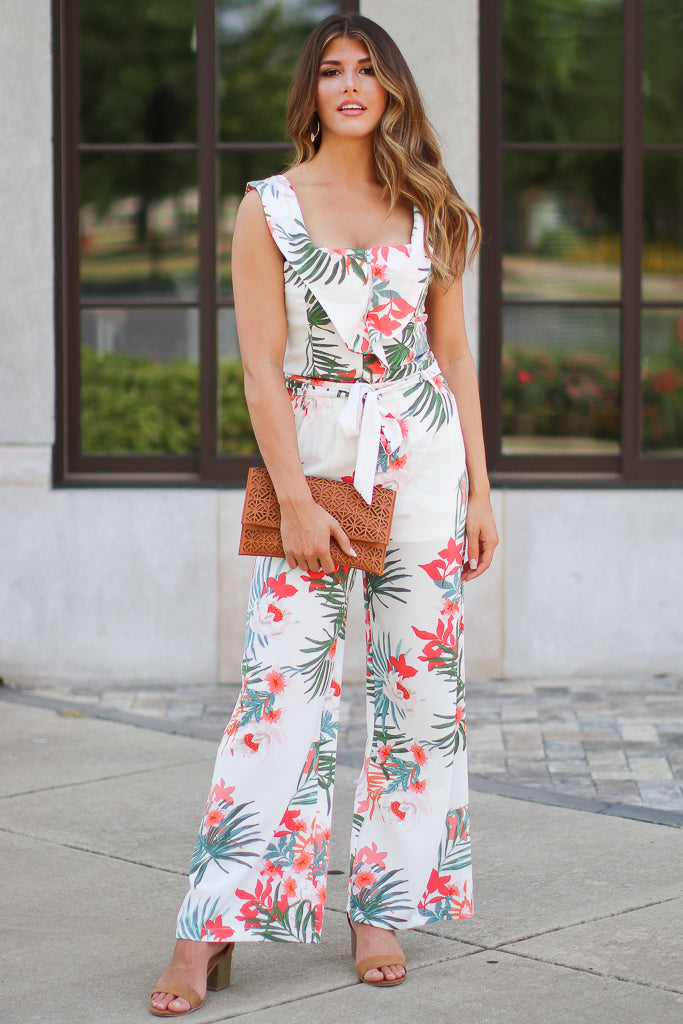 Coast to Coast Tropical Waist Tie Pants - FINAL SALE - Madison + Mallory