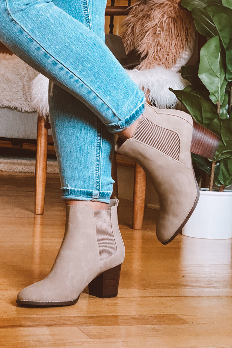 Haines Faux Leather Heeled Booties - Madison and Mallory