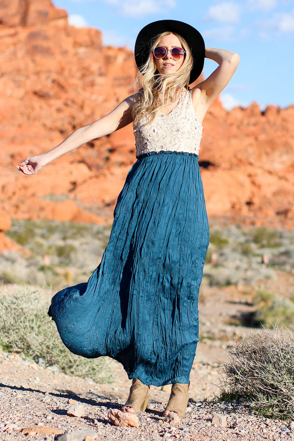 Effortlessly Ethereal Maxi Dress - Madison + Mallory