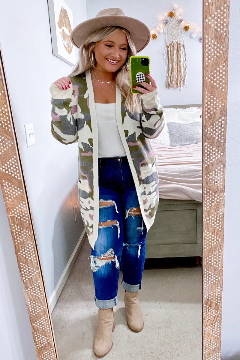 Rank and Style Camo Cardigan - Madison and Mallory