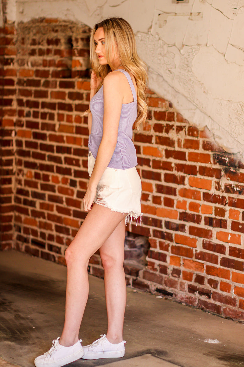 Becky Twist Hem Knit Tank - Madison and Mallory