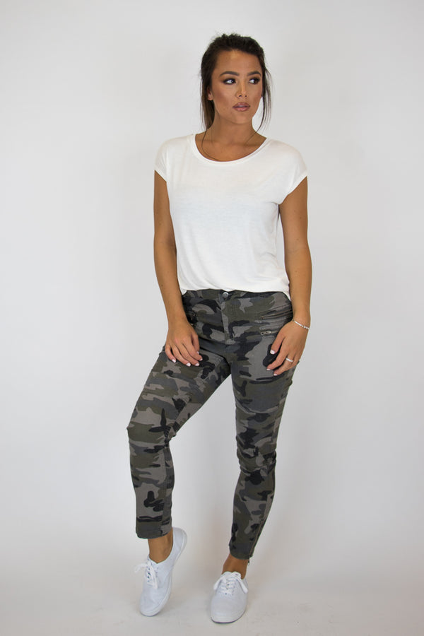 Camo Moto Pants - Madison + Mallory