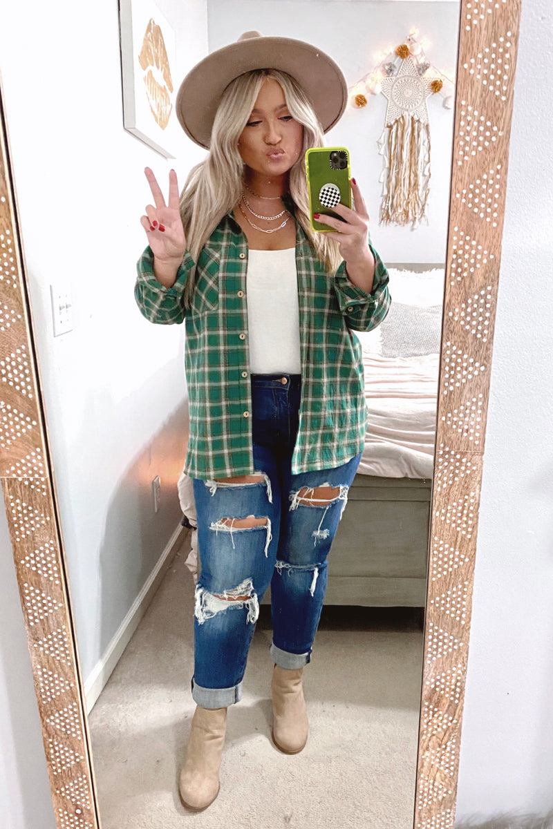Montpelier Plaid Button Down Top - Madison and Mallory