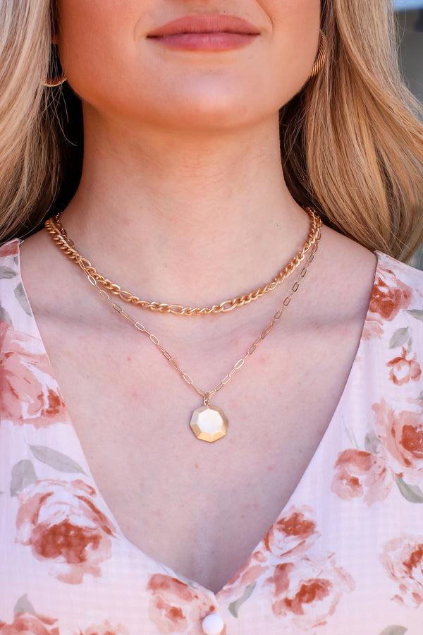 Gold Your Own Path Layered Necklace - Madison and Mallory