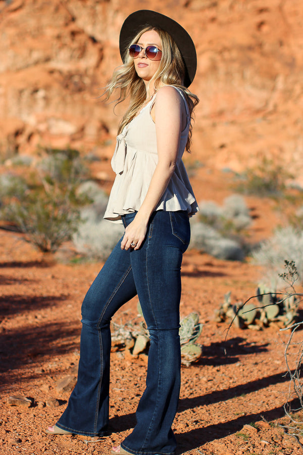 Midland Tie Front Top - Madison + Mallory