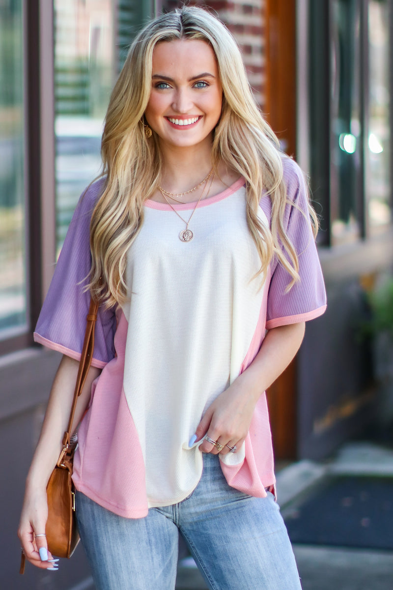 Faylinn Color Block Top - Madison and Mallory