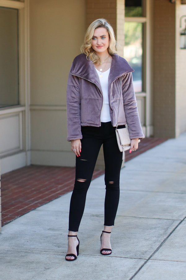 Stratton Quilted Moto Jacket - Madison + Mallory