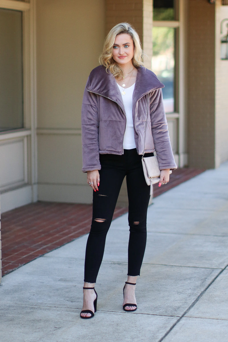 Stratton Quilted Moto Jacket - FINAL SALE - Madison and Mallory