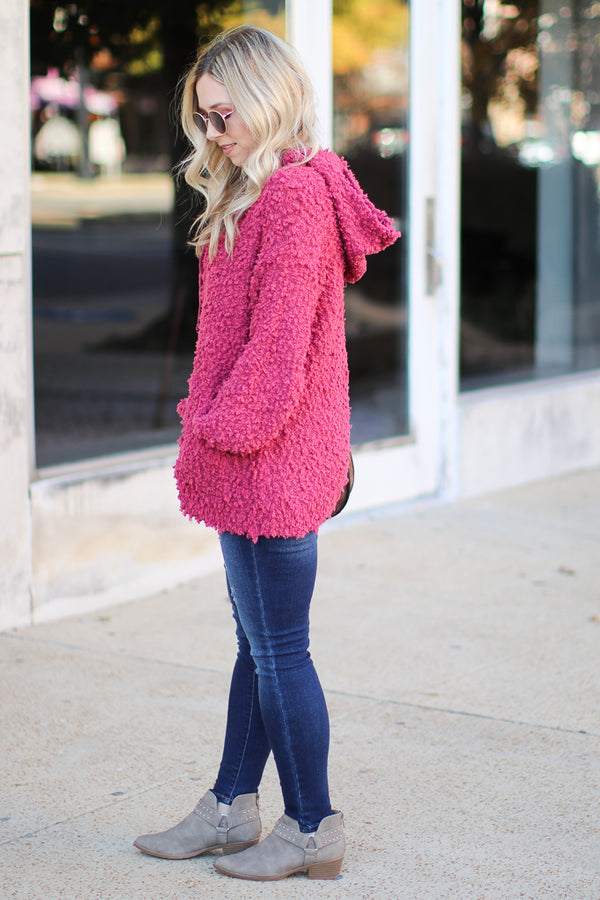 Shane Fuzzy Hooded Pullover - Madison + Mallory