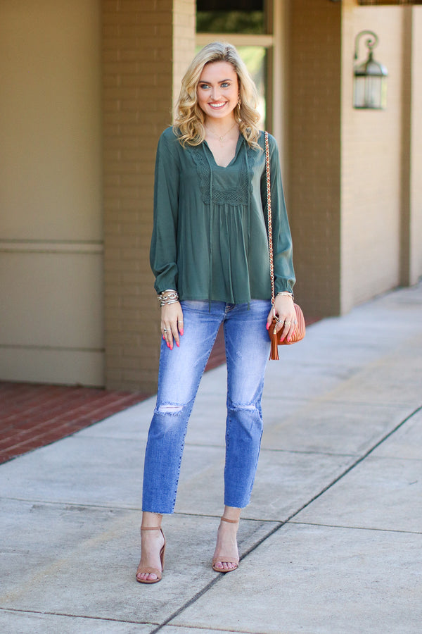 Take a Shot Distressed Jeans - Madison + Mallory