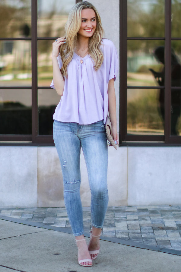 Trustworthy V-Neck Blouse - Madison and Mallory